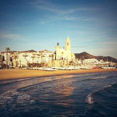 Sitges in Barcelona, Cataluña Train ride away! ~ Denise