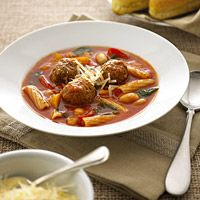 Rigatoni & Turkey Meatball Soup