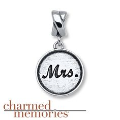 Charmed Memories Mrs. Charm Sterling Silver
