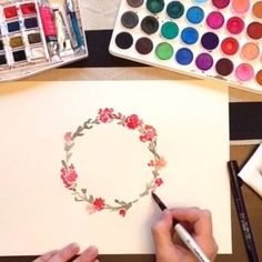How to paint a wreath, super speed version! The full version will be available…