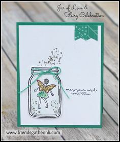 Card using Fairy Celebration and Jar of Love stamp sets by Stampin' Up!