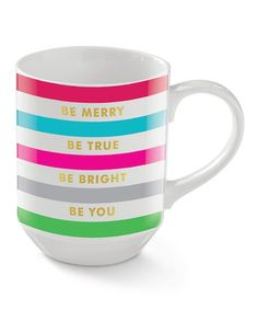 Loving this 'Be Merry' Holiday Mug on #zulily! #zulilyfinds