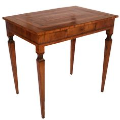 18th Century Italian Marquetry Table   From a unique collection of antique and modern side tables at https://www.1stdibs.com/furniture/tables/side-tables/