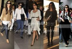 Sonam Kapoor: Sonam never gets it wrong. Be it the red carpet or the airport. This girl knows how to travel in style.