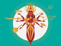 Goddess Lalita Tripura Sundari by scribbletalk on DeviantArt Durga Maa, Durga Goddess, Goddess Art, Hanuman, Navratri Images, Nataraja, Happy International Women's Day, Hindu Deities, Mythology