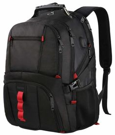Buy Extra Large Backpack,Travel Laptop Backpack TSA Friendly Durable Computer Backpack with USB Charging Port for Men&Women,Water-Resistant Big Business College School Bookbag Fits 17 Inch Laptop&Notebook Computer Backpack, Computer Bags, Laptop Computers, Computer Headphones, Big Backpacks, Stylish Backpacks, Outdoor Backpacks, Travel Backpacks For Men, College Backpacks