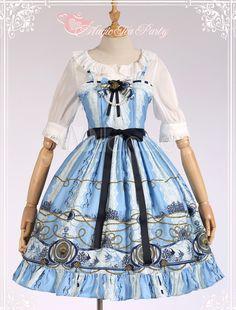 Embroidered Cotton Lolita Jumper Skirt