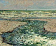 The Seacoast of Pourville, Low Tide - Claude Monet