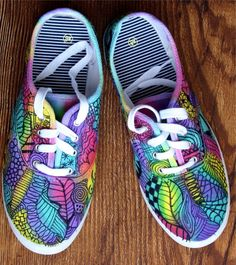 Zentangle sneakers!!! Outrageously FUN!! OOAK