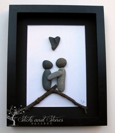 Motivational Pebble Art - COUPLE'S Gift - Personalized Engagement Gift - Sticks and Stones Pebble Artwork - Motivational Gift on Etsy, $80.00 CAD