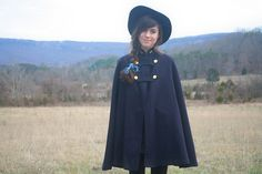 swingy capes, wide brimmed hats by bloomingleopold, via Flickr