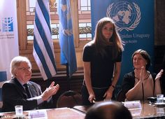 Emma Watson heads to Uruguay on UN Women Goodwill Ambassador duties as she campaigns for more females in politics.