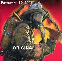 Firefighter Cross Stitch Pattern Hero ~BGB~