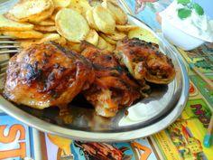 Afrikai ropogós csirke-sült krumplival-mentás uborkasalátával http://mediterran.cafeblog.hu/2017/05/17/afrikai-ropogos-csirkesult-krumplivalmentas-uborkasalataval/
