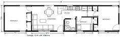 Mother In Law Cottages | much the same floorplans but here is one for a little modular cottage ...