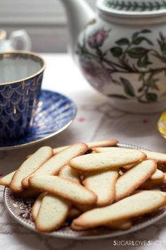 Lingue di Gatto, Italian butter cookies
