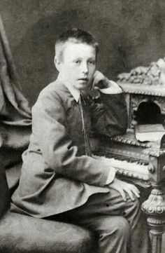 Rachmaninoff in 1883, at age ten, when he began study at the Saint Petersburg Conservatory.