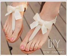 DIY Bow Sandals