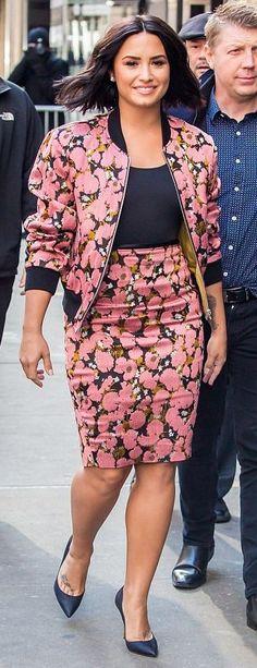 Demi Lovato in Dries Van Noten makes an appearance on 'Good Morning America'. #bestdressed