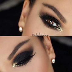 Dramatic Black Smokey Eye Makeup Look