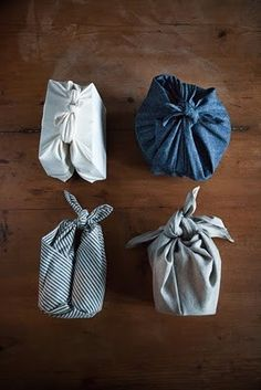 furoshiki - always a good idea with left over fabric!