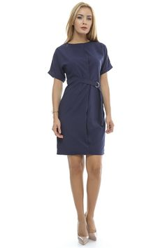 Rochie bleumarin casual - DR2615 Mall, Dresses For Work, Casual, Fashion, Moda, Fashion Styles, Fashion Illustrations, Template