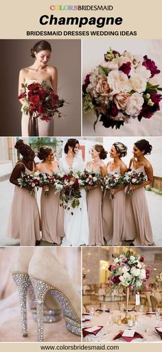 Champagne bridesmaid dresses long and short 500 styles under 100 custom made to all sizes fast shipping. Bridesmaid Dresses Long Champagne, Winter Bridesmaid Dresses, Winter Bridesmaids, Wedding Bridesmaids, Wedding Dresses, Bridesmaid Ideas, Corset Back Wedding Dress, Winter Wedding Colors, Spring Wedding