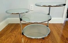 Silver Metal, Coffee Tables, Glass, Ebay, Home Decor, Style, Swag, Decoration Home, Low Tables