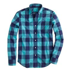 Small?  -  J.Crew - Slim lightweight shirt in oversize gingham