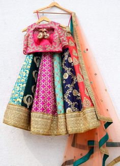 Multi Colour Embroidered Anisha Shetty Lehenga - - Multi Colour Embroidered Anisha Shetty Lehenga – Source by - Indian Bridal Outfits, Indian Bridal Lehenga, Indian Bridal Wear, Indian Designer Outfits, Indian Wear, Indian Designers, Half Saree Lehenga, Lehnga Dress, Pink Lehenga