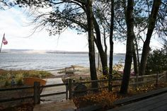 RENOVATED BEACHFRONT Rare on Barlow, this property offers 100 ft wide sandy beach shoreline that has a safe, gentle approach. This charming home was recently renovated including a spacious addition… Ottawa River, Waterfront Homes, Outdoor Furniture, Outdoor Decor, Sunset, Beach, Plants, Home Decor, Decoration Home