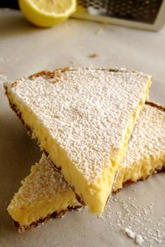 A simple but delicious lemon tart - World Cuisine Audition Cookbook Recipes, Sweets Recipes, Desserts, Lemon Recipes, Greek Recipes, Food Decoration, Food To Make, Sweet Tooth, Bakery