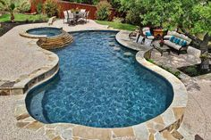 Love the seating in the pool and out. Might have to do it this way due to incline up to garage... Gallery | Keith Zars Pools