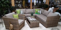Loungemöbel aus Polyrattan, witterungsbeständig, langlebig und sehr robust