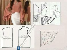 Sewing Clothes Patterns All Things Sewing and Pattern Making Dress Sewing Patterns, Blouse Patterns, Clothing Patterns, Blouse Designs, Sewing Sleeves, Sewing Pants, Make Your Own Clothes, Diy Clothes, Fashion Sewing