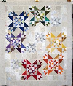 Nice setting for some pretty blocks.   Made by Linda Rotz.
