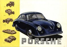Porsche 356 Literature, early 1050. first in full-colour