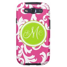 """=>>Cheap          """"M"""" Monogrammed Damask in Lime Green and Pink Samsung Galaxy S3 Cases           """"M"""" Monogrammed Damask in Lime Green and Pink Samsung Galaxy S3 Cases In our offer link above you will seeShopping          """"M"""" Monogrammed Damask in Lime Green an...Cleck Hot Deals >>> http://www.zazzle.com/m_monogrammed_damask_in_lime_green_and_pink_case-179973179440888662?rf=238627982471231924&zbar=1&tc=terrest"""