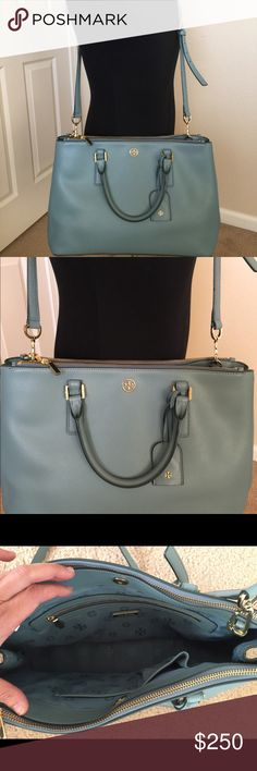 feb5330a582 Tory Burch Robinson Double Zip Tote Tory Burch Robinson in great condition  with dust bag. Large Crossbody BagsTory Burch BagCross BodyShoulder  StrapDust ...