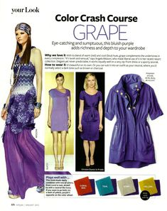 Color Crash Course Grape, InStyle magazine, January 2012, Photo by AllThingsMarie | Photobucket