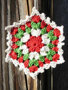 Crochet Granny Square Ornament