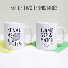 'Serve Me A Tea' Tennis Mug