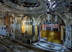 Detroit - United Artists Theater. Completely abandoned and still beautiful