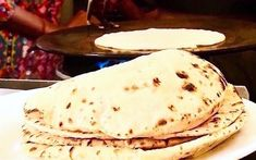 Comforting, and easy to make, roti (also called chapati) are a good source of protein and kitchen play.