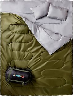 Double Sleeping Bag For Backpacking Camping Or Hiking Queen Size XL Cold Weather 2 Person Waterproof Sleeping Bag For Adults Or Teens Truck Tent Or Sleeping Pad Lightweight Sleepingo >>> More info could be found at the image url. Hiking Tent, Tent Camping, Camping Hacks, Camping Gear, Backpack Camping, Outdoor Camping, Glamping, Outdoor Gear, Outdoor Gifts