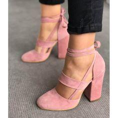 Leila Suede – Pink – LuxFashionVamp