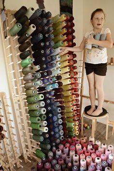 Thread Storage, Sewing Room Storage, Sewing Room Decor, Yarn Storage, Sewing Room Organization, Craft Room Storage, My Sewing Room, Sewing Rooms, Weaving Tools