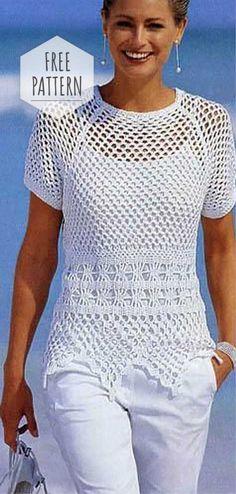 Fabulous Crochet a Little Black Crochet Dress Ideas. Georgeous Crochet a Little Black Crochet Dress Ideas. T-shirt Au Crochet, Cardigan Au Crochet, Beau Crochet, Pull Crochet, Gilet Crochet, Mode Crochet, Crochet Shirt, Crochet Woman, Crochet Tops