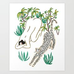 Yoga time Art Print / Isabelle Feliu