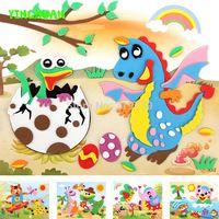 20 diseños/lot 21*26 cm Grande de Espuma Eva Etiqueta de la Serie X de Dibujos Animados de Animales Rompecabezas Educativos Kits para niños